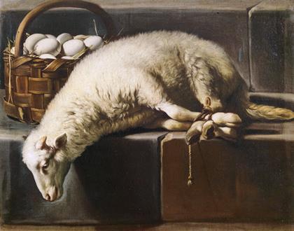 fig. 9- Giovan-Battista-Recco- Agnello legato come allegoria della Pasqua -  50 - 63.jpg